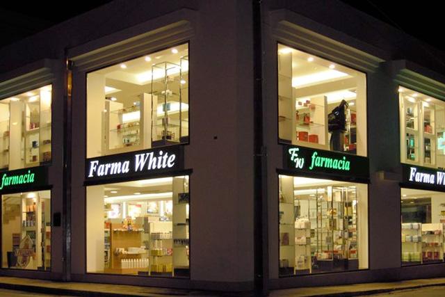 farmacia facciata arredamenti progetto ristrutturazione